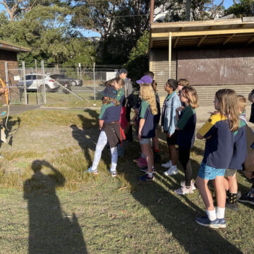 Archery lessons for the Scouts