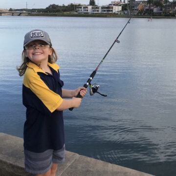 Fishing at Narrabeen Lake with Cubs