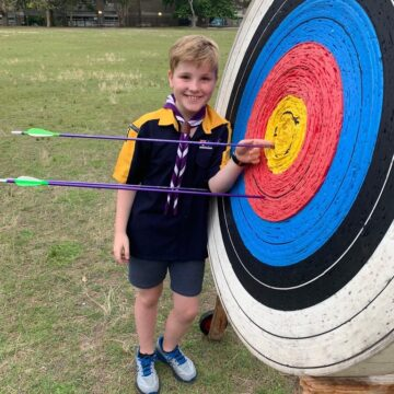 Hitting the target at Cubs Archery