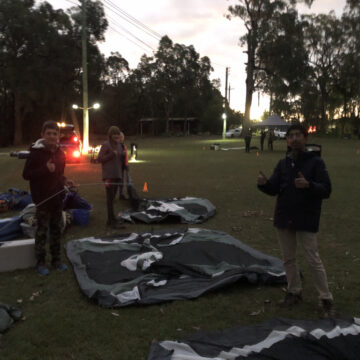 Scouts putting up their own tents at Scout Rally