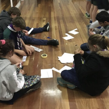 Designing and making model aircraft at Scouts