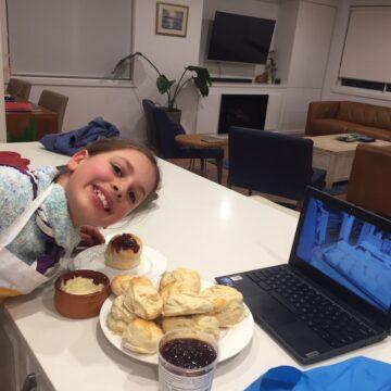 Scout baking night via Zoom